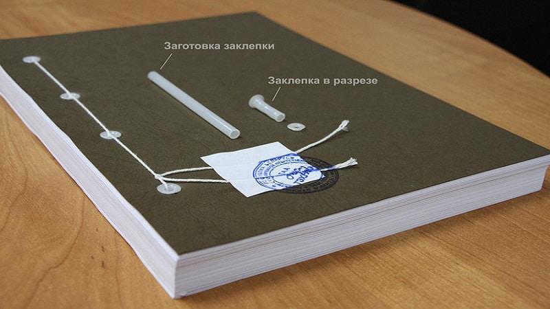 прошивка документов образец