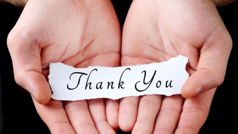 как написать благодарность за хорошую работу образец