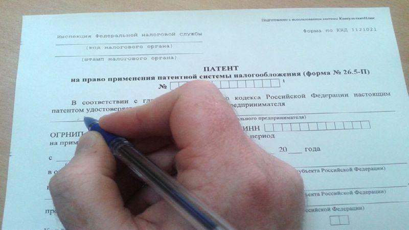 патентный налог для ИП